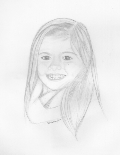 Portrait sketch of girl.