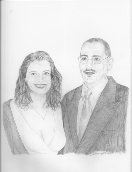 Sketch of couple.